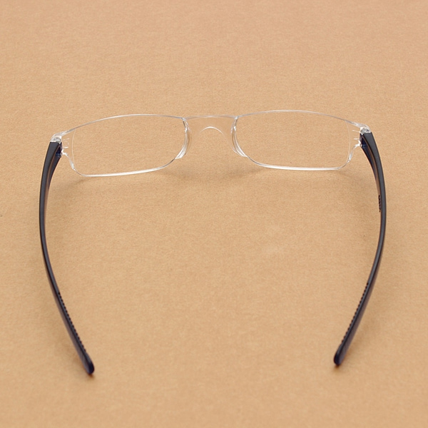 Light Weight Blue Rimless Resin Magnifying Reading Glasses Fatigue Relieve Strength 1.0 1.5 2.0 2.5 3.0