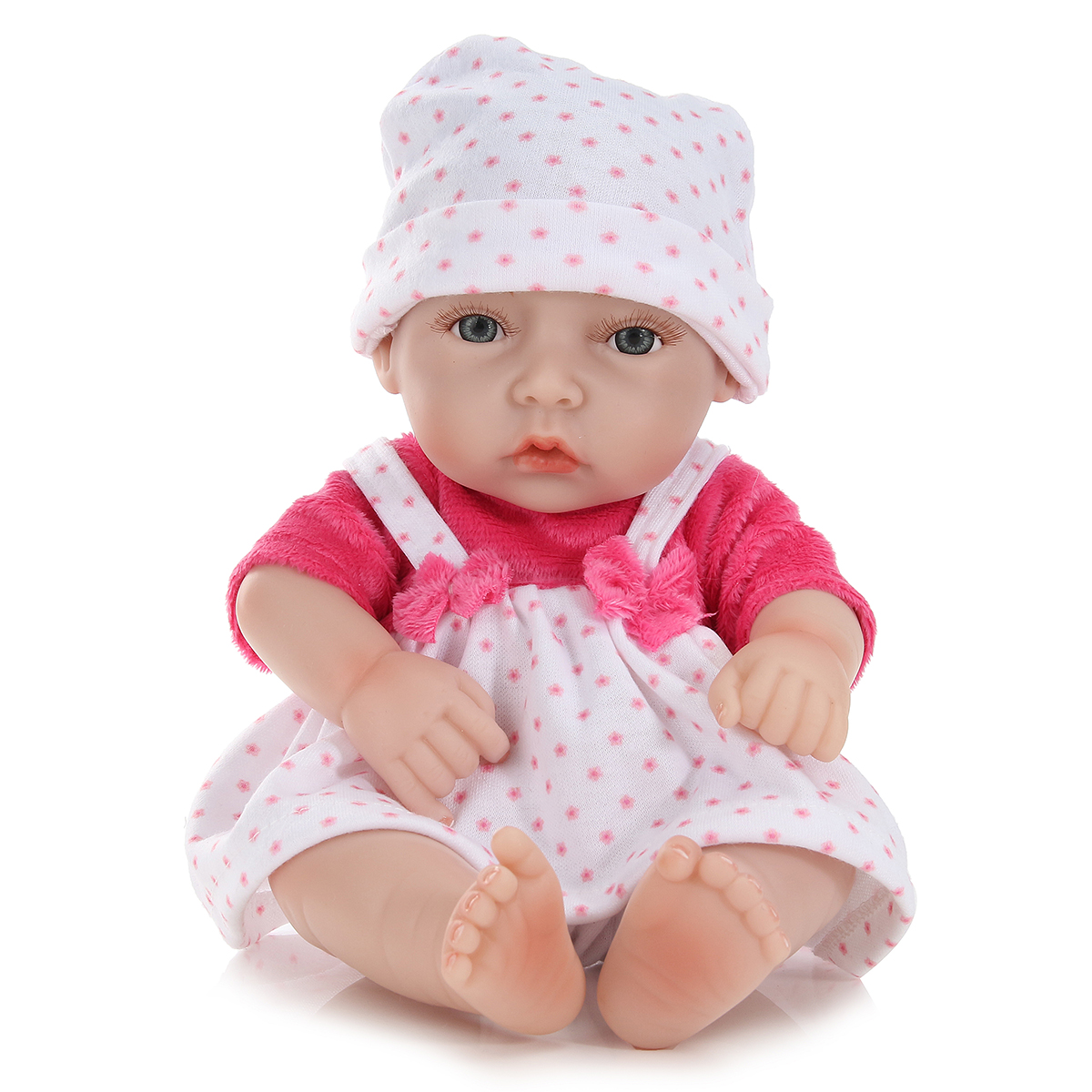 11inch Handmade Reborn Baby Doll Lifelike Realistic Newborn Girl Toy Play House Toys