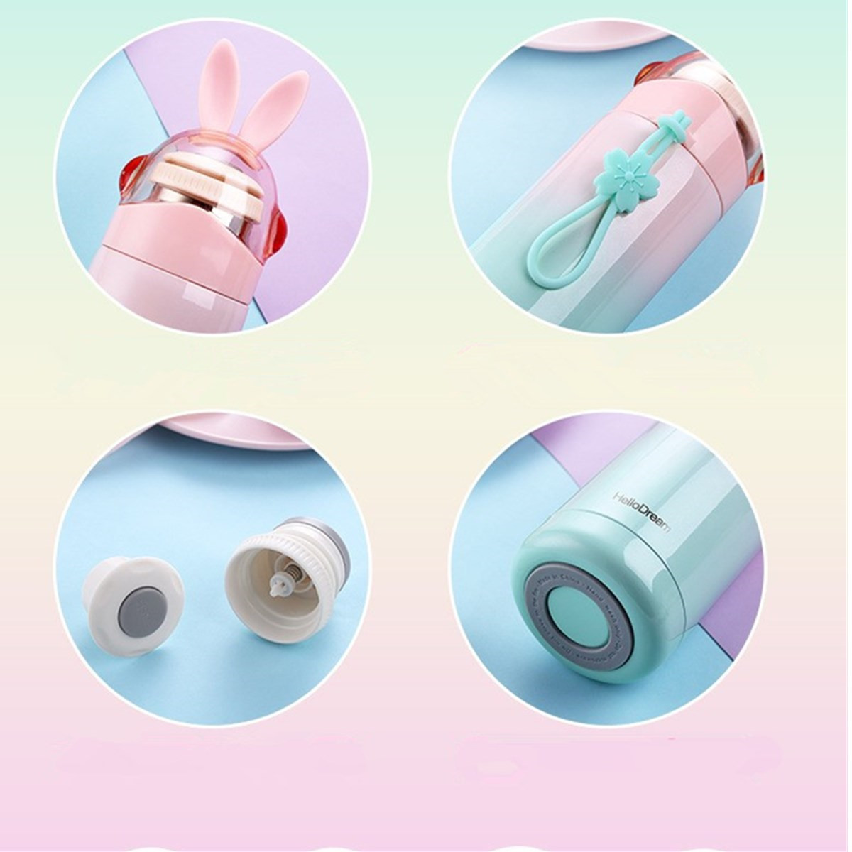 350ML Mini Vacuum Mug Cute Kid Thermos Stainless Steel Hot Water Bottle Travel Cup New Water Bottle