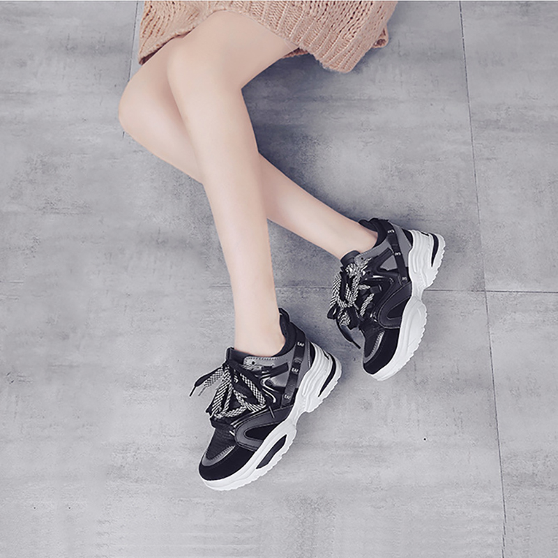 Women's Sneakers Heighten Non-Slip Bouncy Sports Shoes Fashion Outdoor Activities Casual Shoes