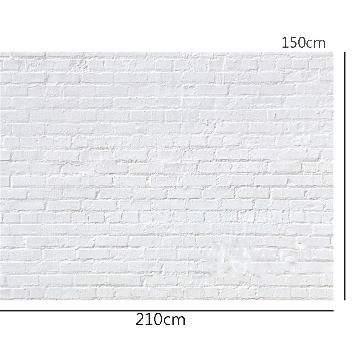 7x5FT Vinyl White Brick Wall Photography Background Backdrop Studio Photo Props