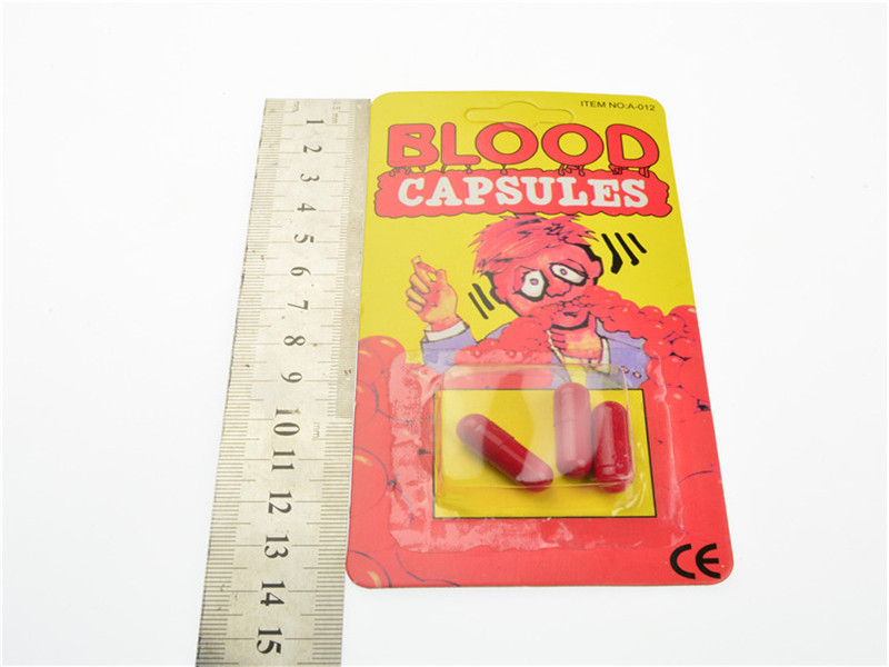 Realistic Blood Capsules Toys Magic Tricks Halloween Horrific Prop Gadget Fun For Friends Family