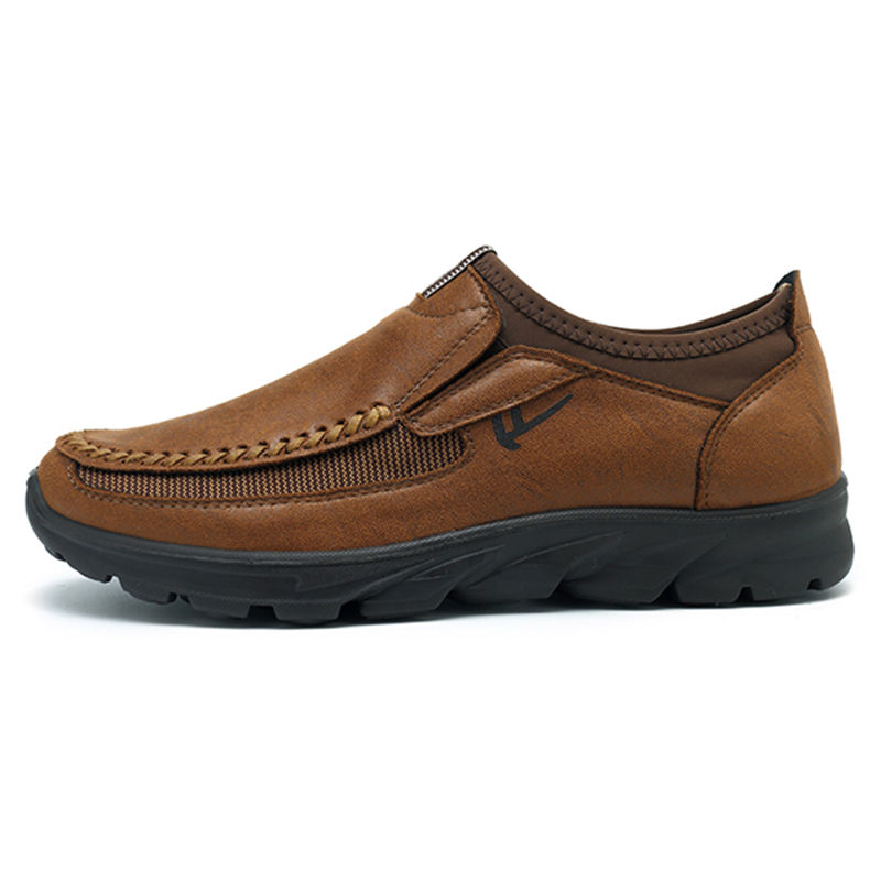 Menico Casual Comfy Soft Moc Toe Slip On Leather Oxfords