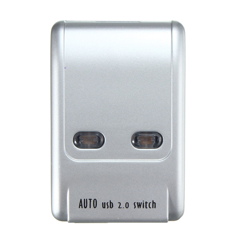 2 Port Usb 2.0 Auto Printer Sharing Switch HUB Selector Switcher for Printer Scanner HM