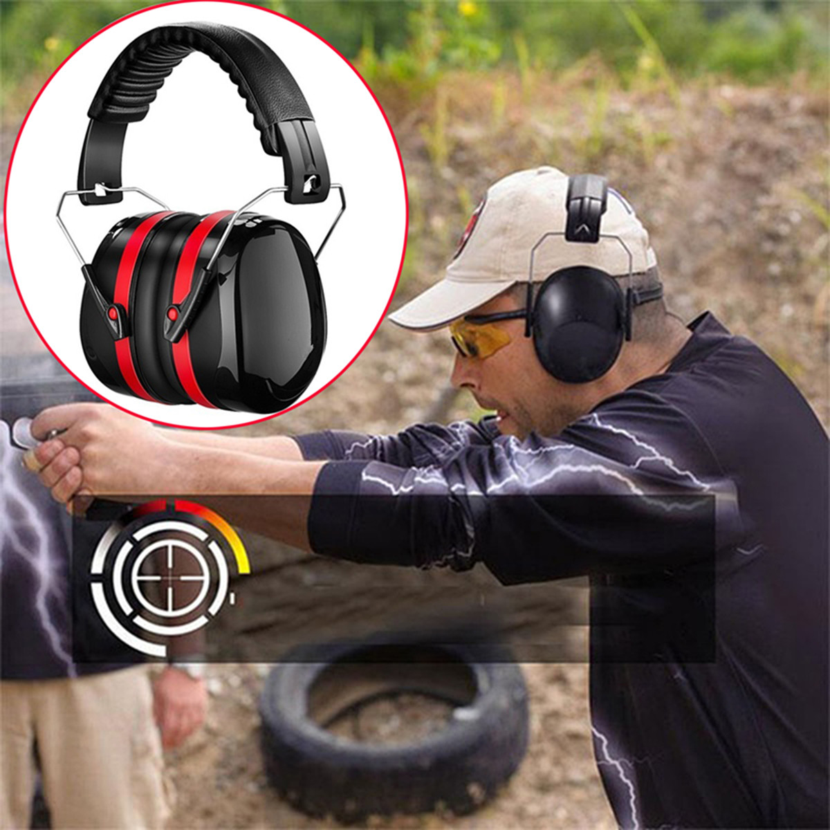 2PCS Noise Reduction Canceling Safety Shooting Hearing Ear Protection Tools Ear Muff