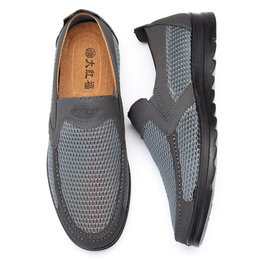 Men Lightweight Breathable Mesh Oxfords