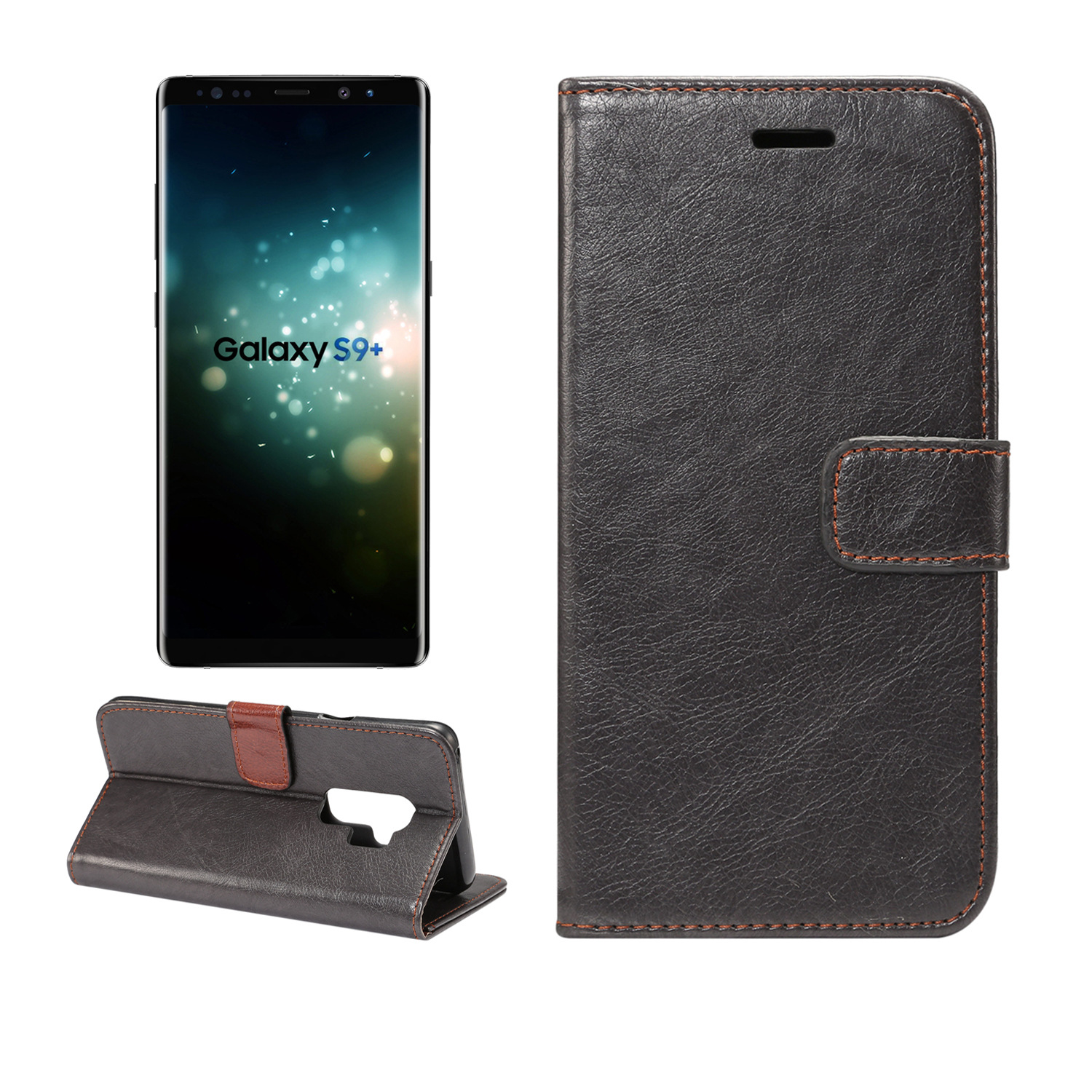 new concept 05ec7 8fb6c Bakeey Magnetic Flip Wallet Card Slot Kickstand Protective Case for Samsung  Galaxy S9/S9 Plus