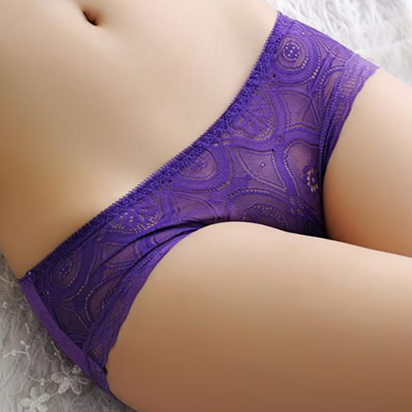 Seam Free Low Waist Transparent Mesh Panties