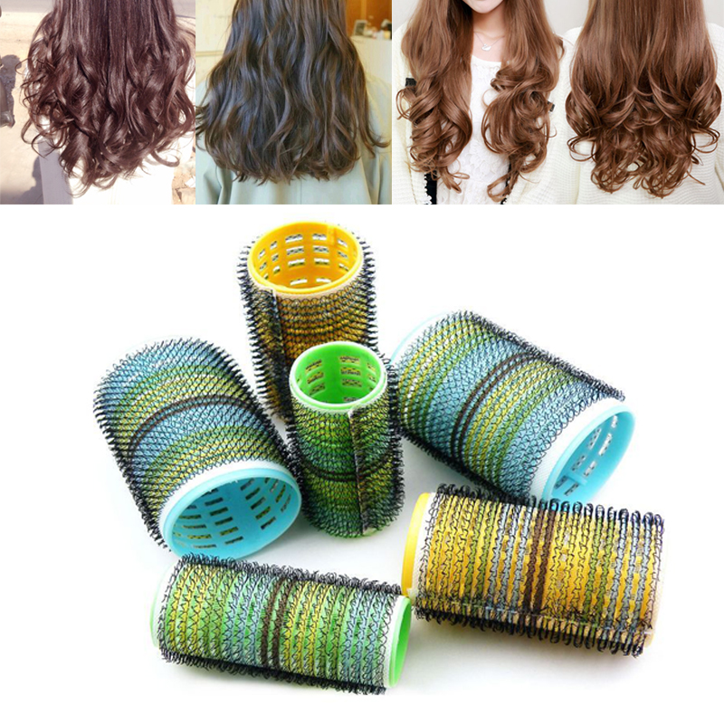 6Pcs Hair Care Hairdressing DIY Magic Self-adhesive Rollers Style Roller Curler Styling Tools