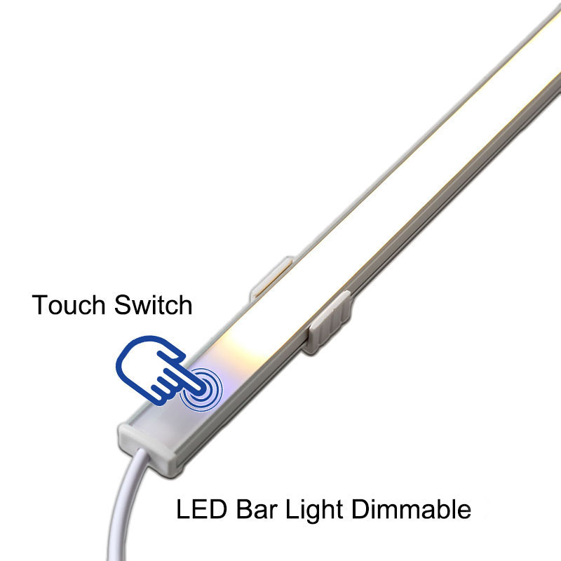 50CM 10W SMD5730 Dimmable Touch sensor Under Cabinet Kitchen LED Rigid Bar Light DC12V