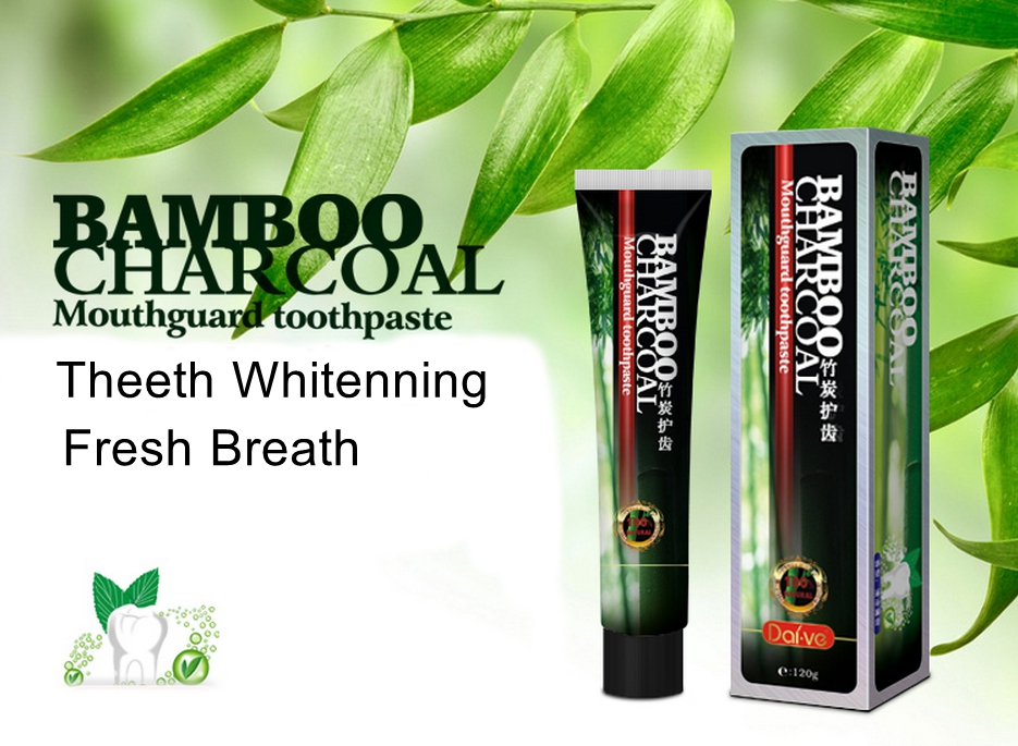 Daive Active Bamboo Charcoal Aloe Teeth Whitening Cleaning Toothpaste Fresh Breath