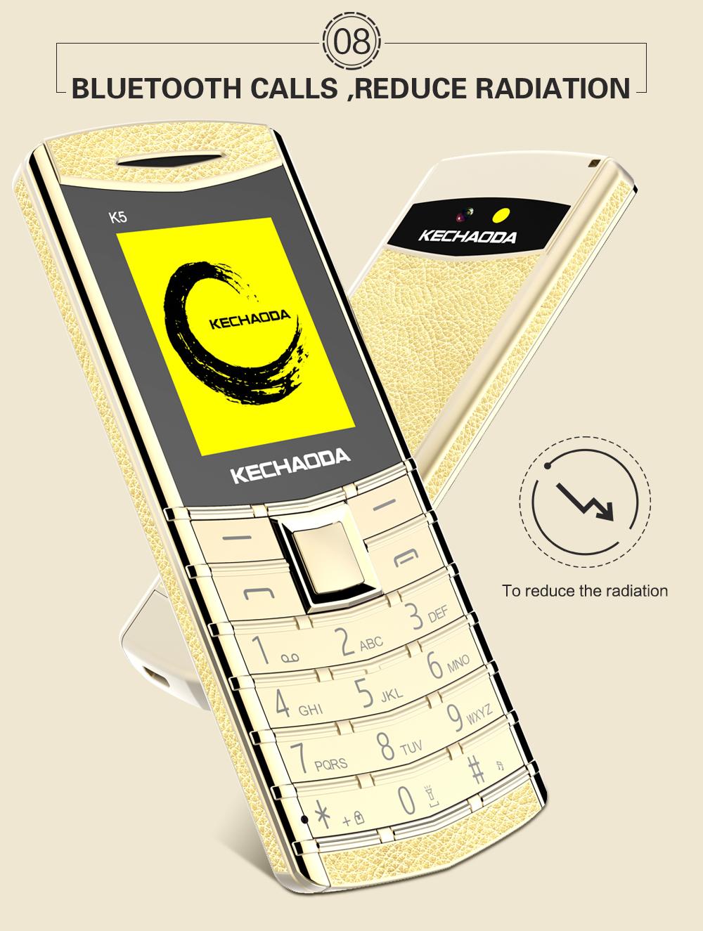KECHAODA K5 1 8 Inch 500mAh bluetooth Dialer With Vibration Dual SIM Card  Dual Standby Ultra-thin Mini Card Phone