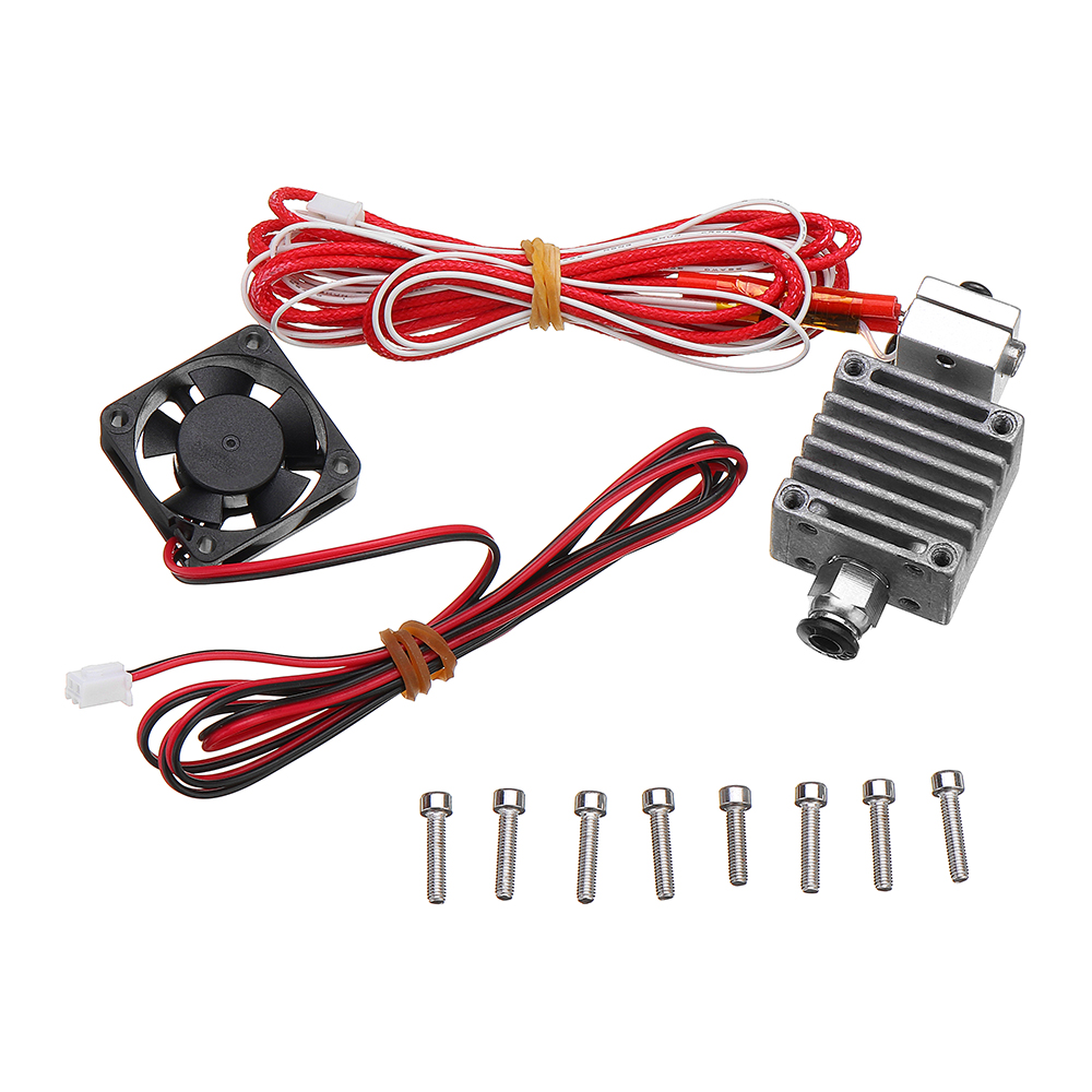 12v 175mm 04mm Single Nozzle Extruder Kit With Cooling Fan Thermistors Wiring In Parallel Shipping Methods