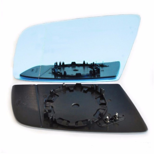 Left Side Blue Heated Electric Wing Mirror Glass For BMW 5 E60 E61 2003-2010