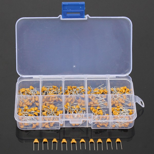 300pcs 10 Values 50V 10pF To 100nF Multilayer Ceramic Capacitor Assortment Kit 30pcs Each Value