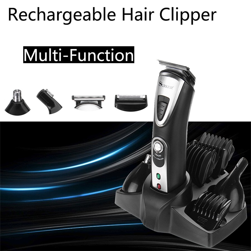 Multi-function Rechargeable Hair Clipper Grooming Kit