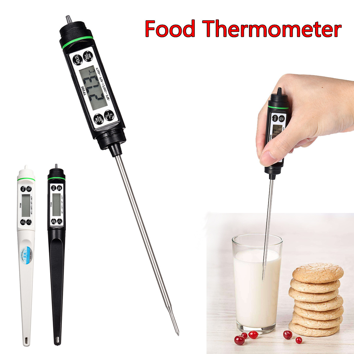 Digital Food Thermometer BBQ Cooking Meat Water Measure Probe Kitchen Tool