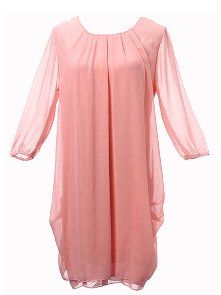 Fashion Long Ruffled Dress Tunic Top Shirt Blouses