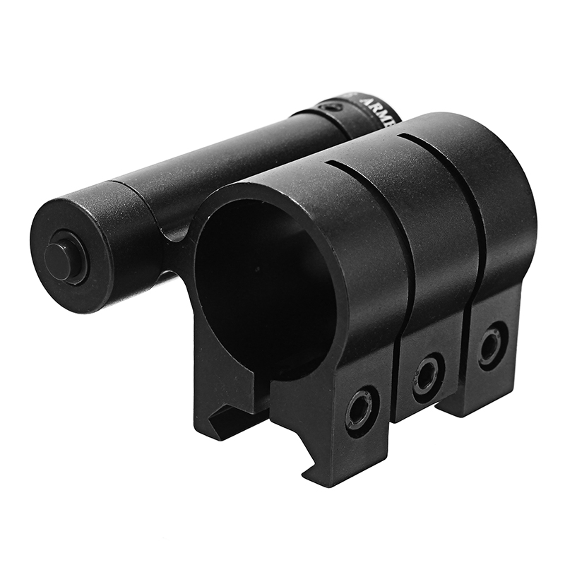 Red Laser Dot Sight Scope 20mm Picatinny Rail with 25mm Flashlight Ring Mount Clamp Holder