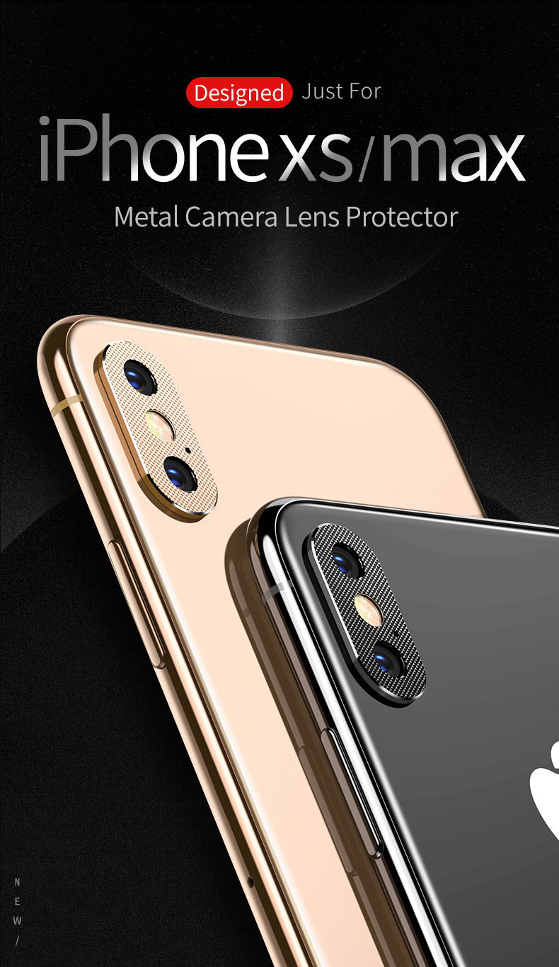 2 Packs TOTU Aluminum Alloy Rear Camera Lens Protector For iPhone XR/XS/XS Max