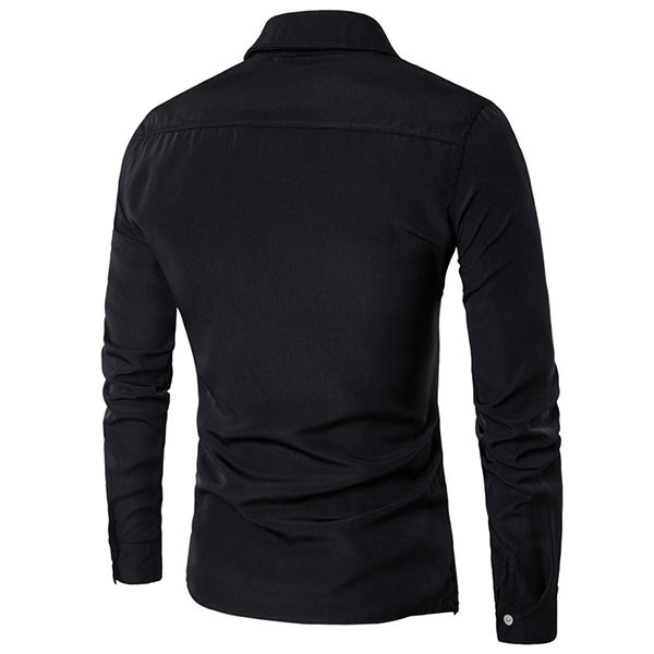Mens Fashion Two Pieces Double Plackets Shirts