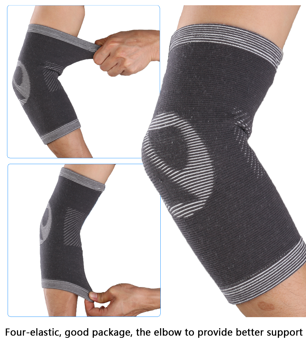 Mumian A23 Classic Bamboo Sports Breathable Elbow Sleeve Brace - 1PC