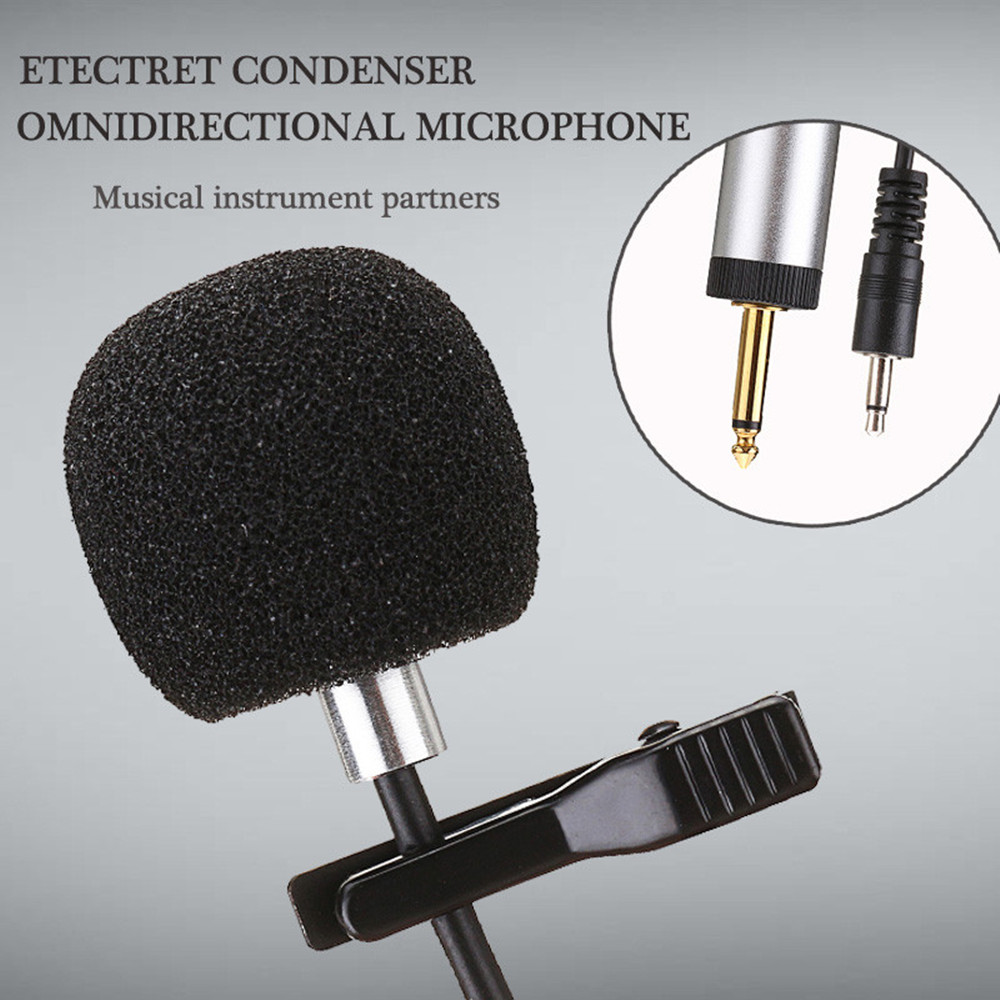 LEORY S318 Mini Condenser Lapel Microphone Clip-on Microphone For Musical Instrument