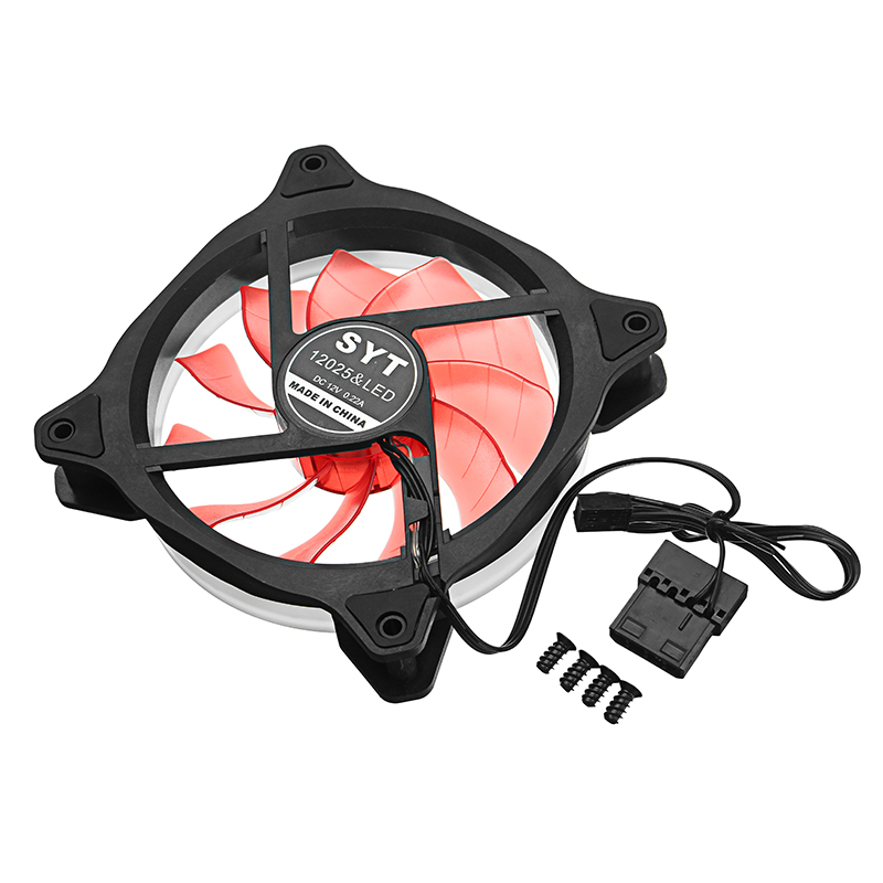 12V 120mm 4Pin/3Pin LED Light Effect Cooling Fan PC Cooler Heatsink For Computer Desktop