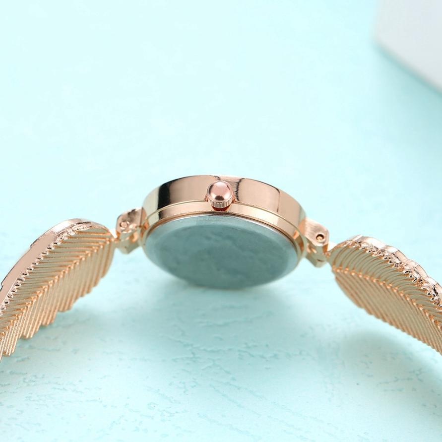 LVPAI Stainless Steel Rhinestone Women Bracelet Watch