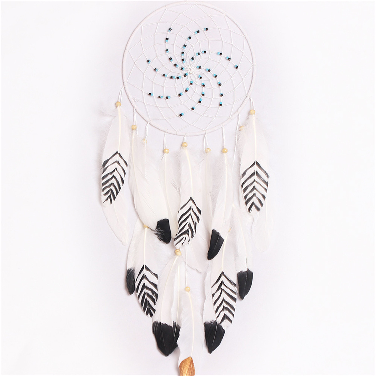 Dreamer White Retro Handmade Indian Dream Catcher Tribal Wall Hanging Decor Ornaments