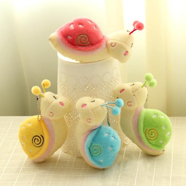 Cute Snail Animal Fluffy Plush Stuffed Pendant Toy Gift