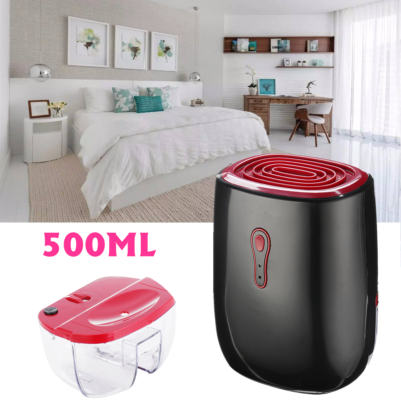 25W Electric Air Dehumidifier Portable Electric Dehumidifier Dry Air Moisture Remover 500ML