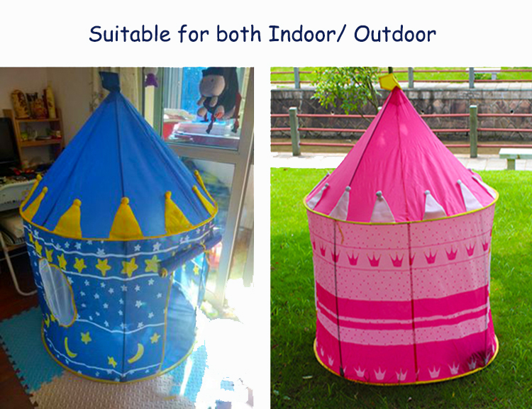 Kids Portable Play Tent Children Indoor Outdoor Ocean Ball Pool Folding Cubby Toys Castle
