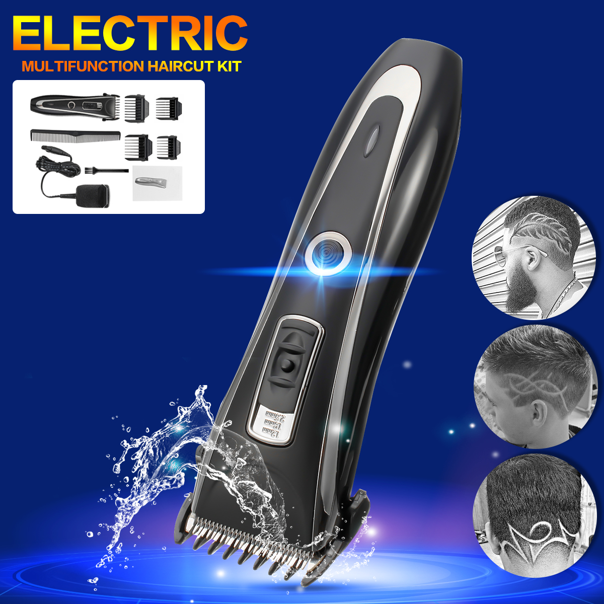 Rechargeable Professional Electric Hair Trimmer Shaver Set