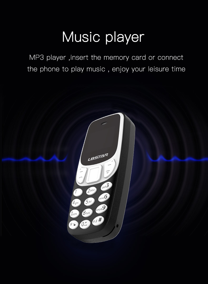 L8star BM90 260mAh Headset Bluetooth Dialer Magic Voice Changer MP3 Music Player Mini Card Phone