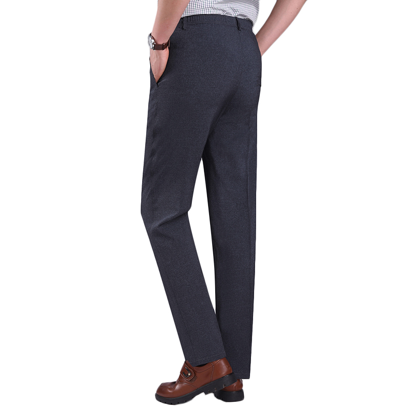 Men's Summer Thin Elastic High Waist Deep Suit Pants
