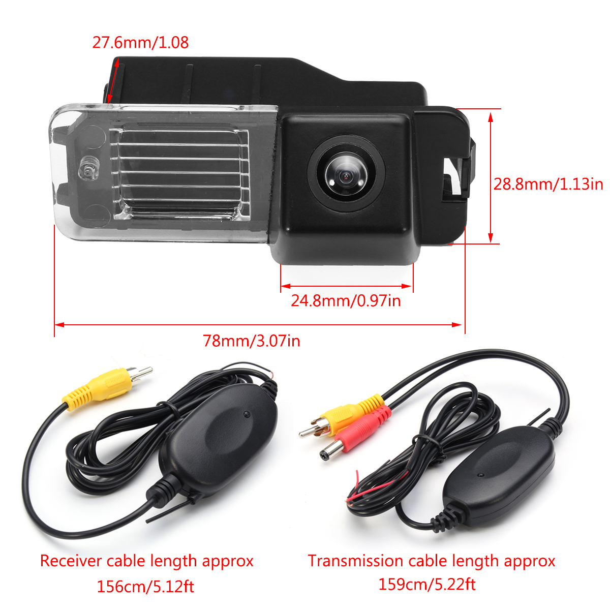 Wireless Car CCD Reverse Rear View Backup Camera For VW Golf VI Polo V Passat CC