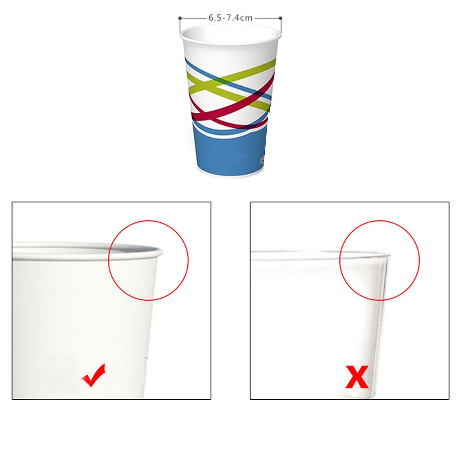 Disposable Water Cup Dispenser Paper Cup Dustproof Plastic Holder Self Adhesive Mount 50 Cups