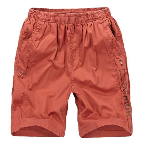 5 Colors Mens Summer Elastic Waist Multi Pocket Knee-length Loose Cotton Casual Shorts