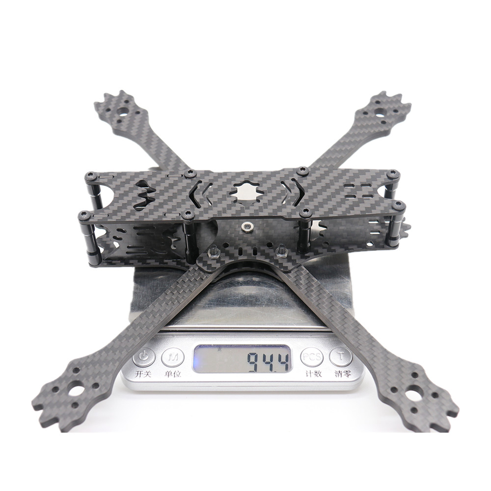 URUAV UR14 215mm Wheelbase 5mm Arm 3K Carbon Fiber 5 Inch Frame Kit for RC Drone FPV Racing - Photo: 9