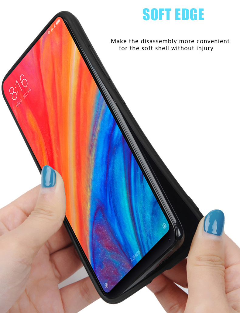Bakeey Luxury Fabric Splice Soft Silicone Edge Shockproof Protective Case For Xiaomi Mi8 Mi 8
