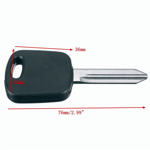 Uncut Ignition 4C Chip Car Key Blank Transponder Replacement for Ford Mercury