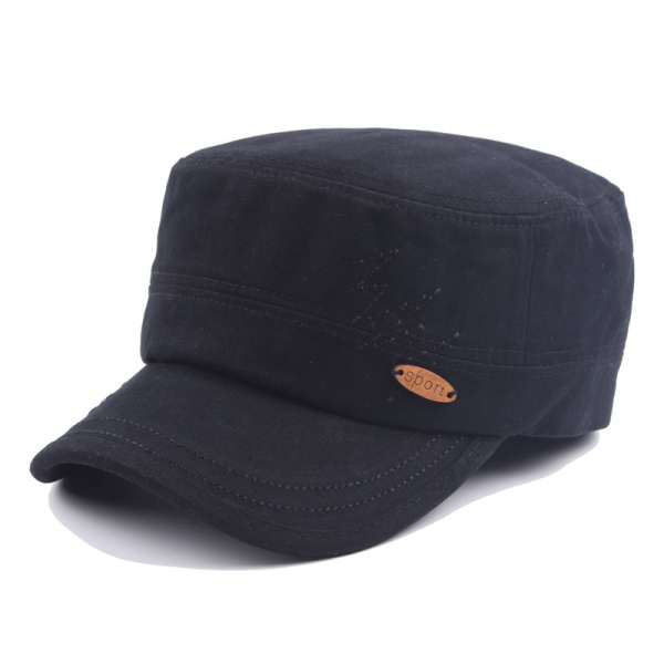 Mens Cotton Military Washed Baseball Cap Embroidered Army Plain Flat Cadet Outdoor Visor Hat