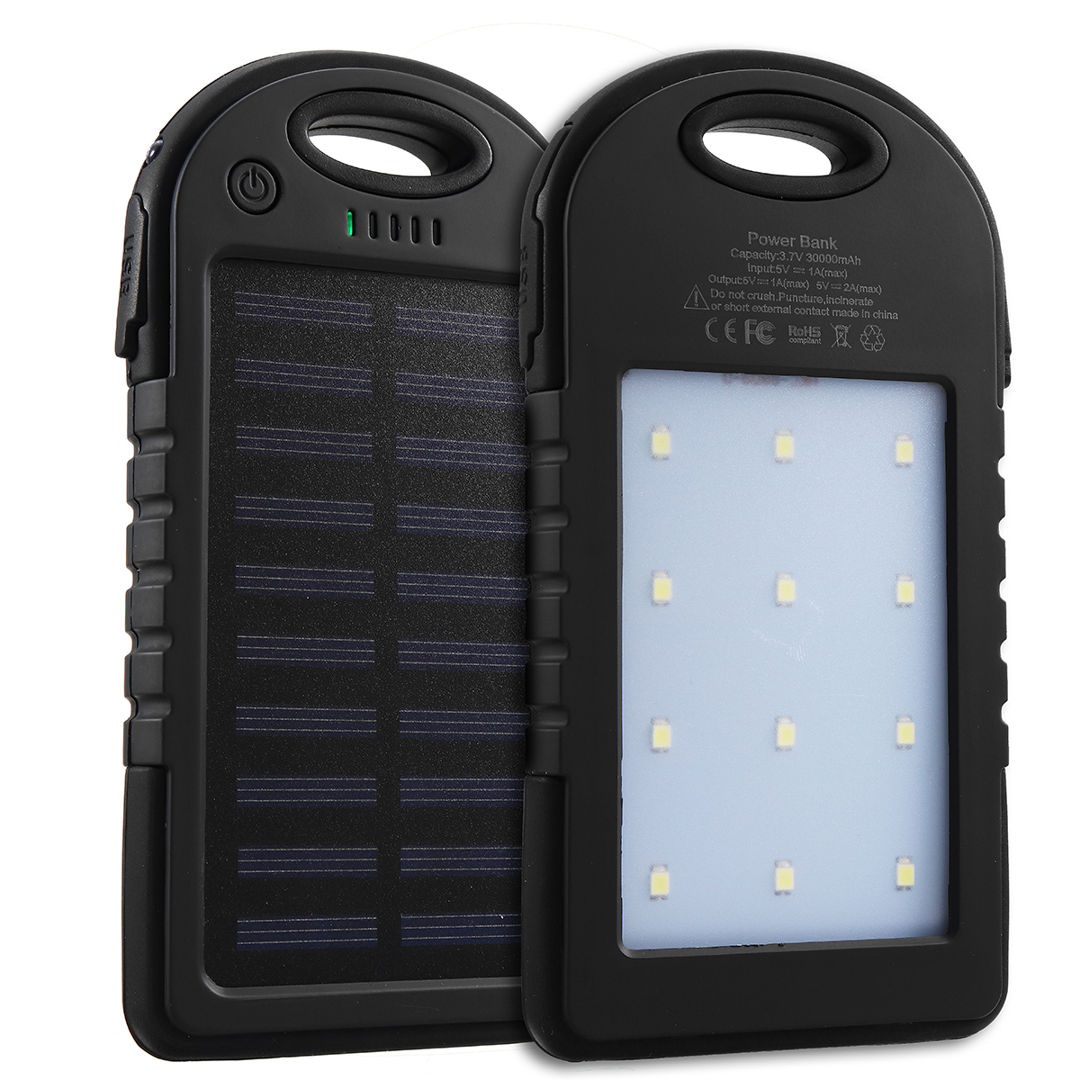 Excellway® Portable 10000mAh Solar Powered System Charger USB Battery Charger Case for Camping Outdoor