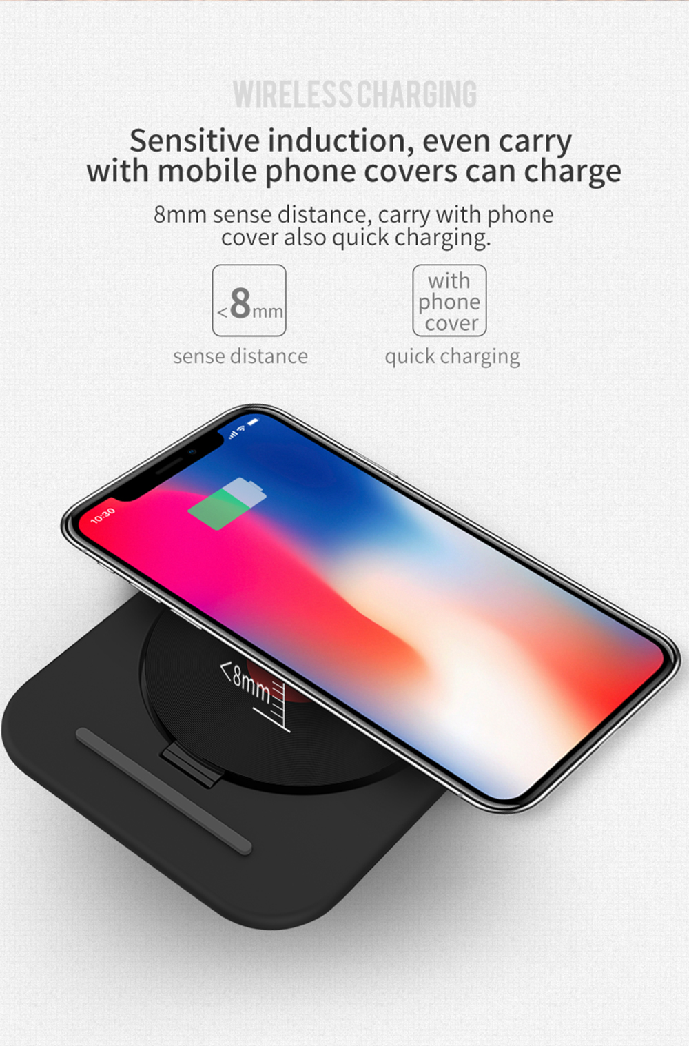 Bakeey 10W 7.5W 5W Foldable Wireless Charger Charging Pad For iPhone XS MAX XR 8 Note 9 Xiaomi Mix 3