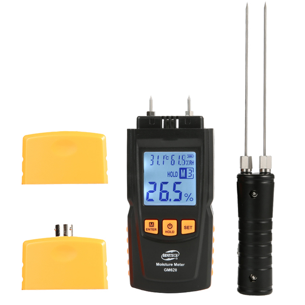GM620 Wood Moisture Meter Humidity Tester Timber Damp D