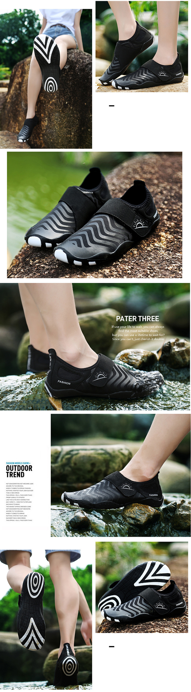 Outdoor Men Water Sneakers Shoes Breathable Lightweight Swimming Diving Wading Beach Shoes