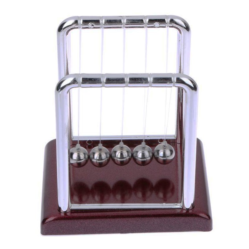 Newton Cradle Balance Steel Ball Physics Science Pendulum Development Educational Desk Toy Valentines Gift