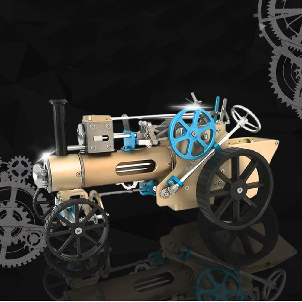 Teching DM34 Steam Car Model Stirling Engine Full Metal Model Toy Collection Gift Decor