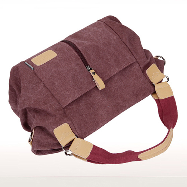 Women Canvas Tote Bag Outdoor Casual Crossbody Bag Duffle Bag